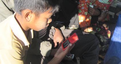 Myanmar Boy Listening