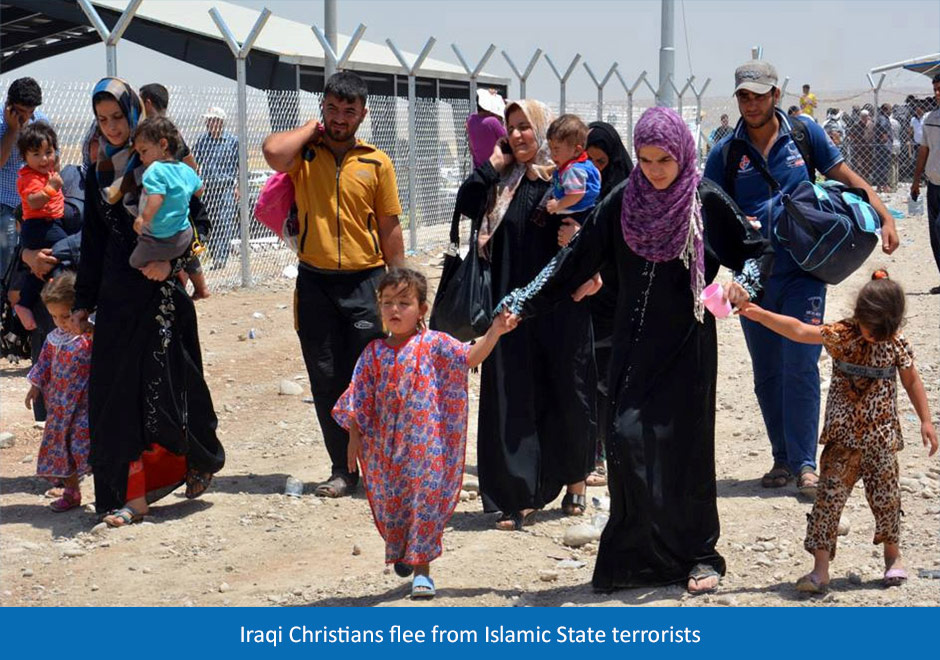 Christians Fleeing Mosul From Terrorists