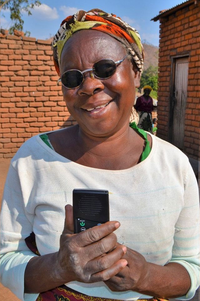 Blind lady is grateful for her Audio Bible