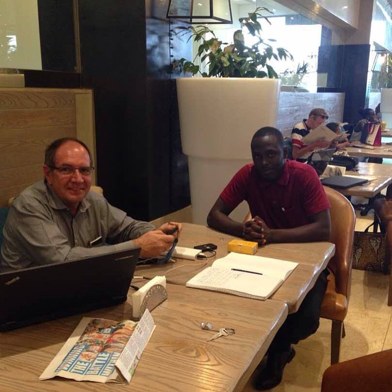 Gerald and Johan at Entebe