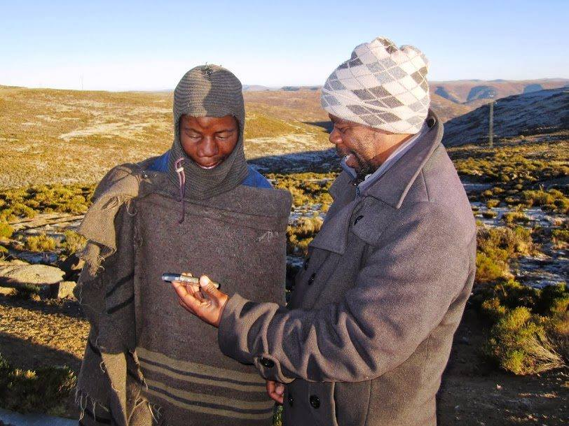 Lesotho Pastors hear a MegaVoice Bible