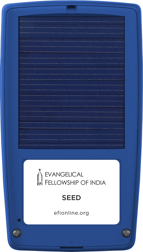 Evangelical Fellowship of India - SEED - Back